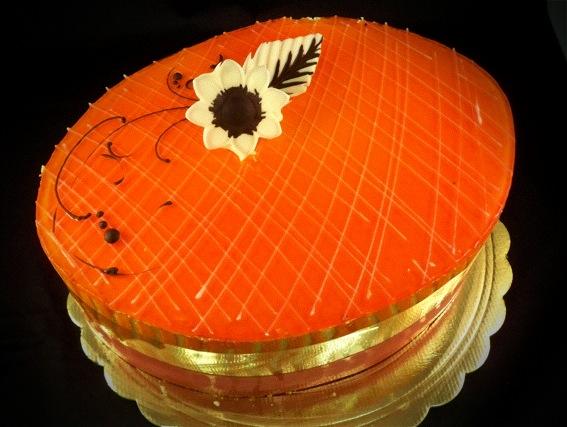 Mandarin Mandarin Mandarin White Sponge Cake Moistened With Rum